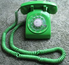 Vintage Neon Lime Green Stromberg Carlson Rotary Phone - working Dial Telephone