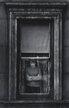 "kafkasapartment: "" Woman in window, Yorkville, New York, 1958. Charles Harbutt. Gelatin silver print """