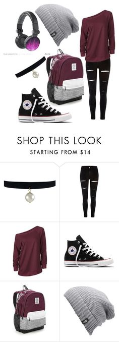 """Meant to upload this yesterday sorry"" by the-wayward-huntress ❤ liked on Polyvore featuring River Island, Converse, Victoria's Secret and The North Face"