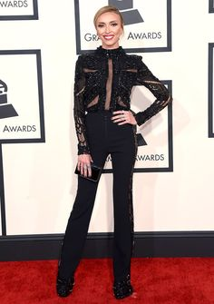 Giuliana Rancic Looks Slim in Sheer Pants Pants at Grammys 2015 ...