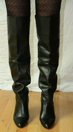 Nine West Over The Knee Black Leather High Heel Boots 9 Brazil late 80s vintage | eBay Vintage Boots, High Heel Boots, Nine West, Brazil, Riding Boots, Black Leather, Heels, Ebay, Fashion
