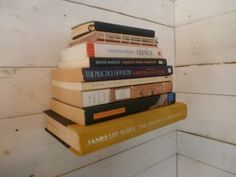 Love this DIY: Floating Bookshelves tutorial from The Tiny Life!