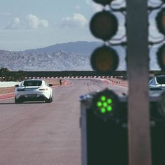 Mercedes-AMG GT S drivers test their reflexes during a drag race at the Thermal Club! Photo by @RVT3. [Mercedes-AMG GT S | Combined fuel consumption: 9.6-9.4 l/100km | CO2 emission: 224-219 g/km] #MercedesBenz #MercedesAMG #Mercedes #Benz #AMG #AMGGTS #track #camo by mercedesamg