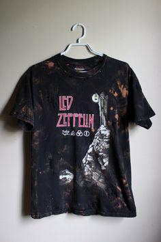 42aa253306ad3 Splatter Bleached and Shredded Led Zeppelin T Shirt