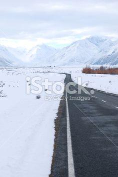 Road to Mt Cook (Aoraki), New Zealand Royalty Free Stock Photo