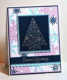 Starry Christmas; Snowflake Splendor; Small Scallop Border Die-namics - Karen Motz