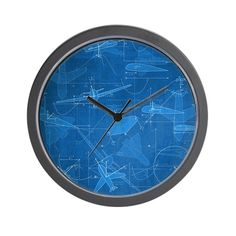 A pattern for the aerospace engineer, or flight enthusiast! Featuring equations for aircraft flight and performance. Wall Clock Design, Color Combinations, Clocks, Aircraft, Engineering, Pattern, How To Wear, Aviation, Color Combinations Outfits