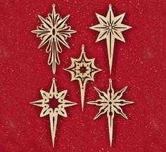 Shining Star Scroll Saw Ornaments