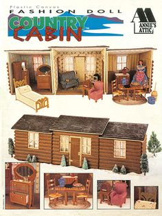 Fashion Doll Country Cabin, download only, $9.95.  Adorable!