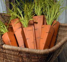 Rustic Easter Decor Set of 6 Primitive Wooden Carrots Easter Projects, Easter Crafts For Kids, Easter Ideas, Bunny Crafts, Spring Crafts, Holiday Crafts, Oster Dekor, Diy Osterschmuck, Easy Diy