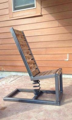 Adirondack chair reclaimed wood DIY - Make this beautiful Adirondack Chair yourself! See this post for the Furniture Plans instructions and supply list to build. Woodworking Furniture Plans, Welding Projects, Woodworking Projects Plans, Kids Woodworking, Diy Projects, Metal Projects, Garden Projects, Photo Projects, Welding Ideas