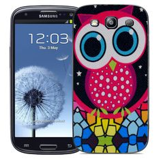 New Case Cover Bumper for Samsung Galaxy S3 i9300 Red Owl Design #Samsung