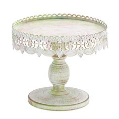 Benzara Traditional Lace-look Cake Stand