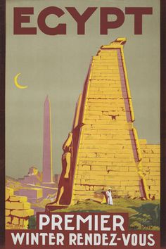TW95 Vintage Egypt Winter Rendezvous Egyptian by AffichePrints