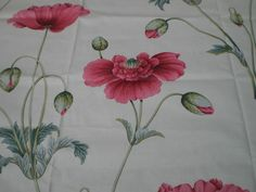 """SANDERSON CRAFT FABRIC REMNANT """"PERSIAN POPPY B"""" 75 X 145 CM COTTON BLEND in Crafts, Sewing & Fabric, Fabric 