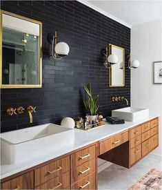 Bathroom decor for your master bathroom renovation. Discover master bathroom organization, master bathroom decor suggestions, bathroom tile suggestions, bathroom paint colors, and more. Bad Inspiration, Bathroom Inspiration, Bathroom Inspo, Cool Bathroom Ideas, Earthy Bathroom, Dark Wood Bathroom, Rustic Master Bathroom, Masculine Bathroom, Peach Bathroom