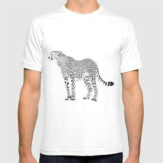 Cheetah - black and white T-shirt by vladimirceresnak Black And White T Shirts, Mens Tops, Stuff To Buy, Fashion, Moda, La Mode, Fasion, Fashion Models, Trendy Fashion
