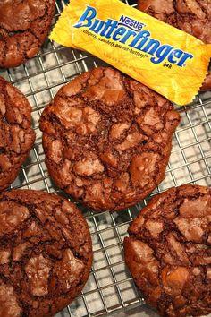 Butterfinger Brownie Cookies Recipe