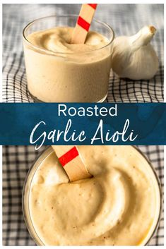 Garlic Aioli is a super flavorful sauce that goes with so many recipes. This creamy Roasted Garlic Aioli recipe is easy, tasty, and slightly addicting. Aoli Sauce Recipe, Garlic Aoli Recipe, Roasted Garlic Aioli, Aioli Sauce, Garlic Recipes, Sauce Recipes, Cooking Recipes, Creamy Garlic Sauce, Dip Recipes