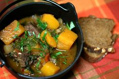 Food for Hunters: Butternut Squash and Rainbow Chard Venison Stew