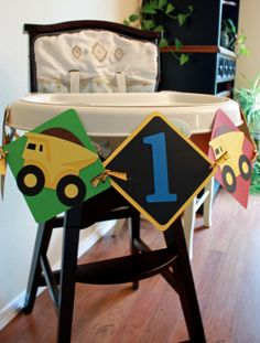 Construction Theme Dump Truck First Birthday by BeanBugCrafts