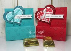 Valentines Chocolate Nugget holder video - Dawn's Stamping Thoughts