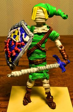 Link made out of twist ties - Imgur