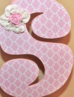 Custom Wooden Nursery Letters - Baby Girl Nursery Decor- Personalized Name- wall letters- any color, theme, bedding-The Rugged Pearl. $15.75, via Etsy.