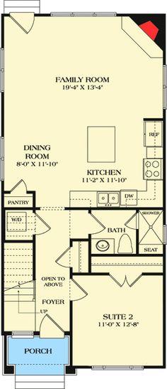 Dream House Plans Small Loft 38 Ideas For 2020 House Plan With Loft, Narrow Lot House Plans, Loft House, Dream House Plans, Modern House Plans, House Floor Plans, Floor Plan Layout, Small Loft, Loft Spaces