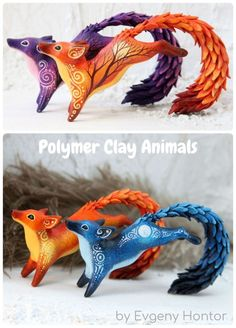 Polymer clay projects by Evgeny Hontor Fantasy Polymer clay Animal Figurine Scul… Polymer Clay Projekte von Evgeny Hontor Fantasie Polymer Clay Tierfigur Skulptur Polymer Clay Tutorials Polymer Clay Kunst, Polymer Clay Sculptures, Polymer Clay Animals, Cute Polymer Clay, Cute Clay, Polymer Clay Charms, Sculpture Clay, Sculpture Ideas, Clay Art Projects