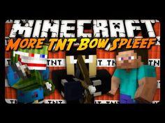 Minecraft Mini-Game: MORE TNT BOW SPLEEF! w/ AntVenom & Bashur! - YouTube