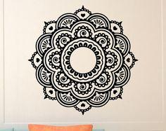 Mur autocollant Mandala ornement Lotus fleur Yoga par FabWallDecals