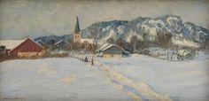 Gustav Wentzel - After Snowfall. Lund, Local Art Galleries, Nordic Lights, Virtual Art, Oil Painting Reproductions, Custom Art, All Art, Canvas Art Prints, Online Art