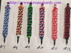 Rainbow Loom Pen Covers
