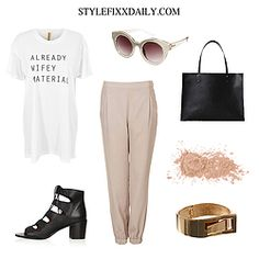 OUTFIT OF THE DAY: NEVER FULLY DRESSED, 'ALREADY WIFEY MATERIAL' TEE