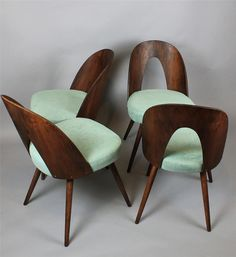 Wooden Tatra chairs, design by Antonín Suman. Czechoslovakia, 1960s.