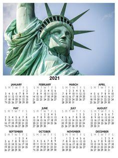US 2021 Calendar With Holidays 12 Month Calendar, December Calendar, Holiday Calendar, Yearly Calendar, 2019 Calendar, Us Holidays, School Holidays, Brighton Map, Us School