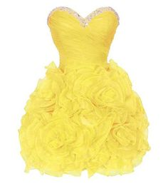 Short Yellow Formal Dresses | short corset yellow poofy puffy formal prom homecoming graduation ...