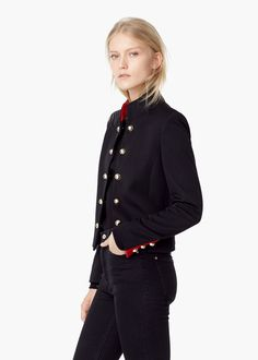Buttoned jacket -  Women | MANGO