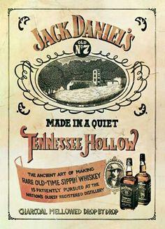 Publicidad Jack Daniels Vintage.