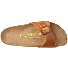 Amazon.com: Birkenstock Sandals ''Madrid'' from Leather in antique brown with a regular insole: Shoes
