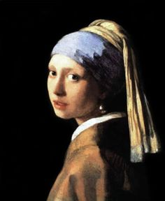 """""""The Girl with a Pearl Earring""""  1665 by a Dutch master Johannes Vermeer van Delft"""
