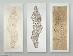 parts I, II,III…. Stunning textiles by Jenny Langley inspired by berber designs, Lantaka loves this! Fall To Pieces, Collagraph, Textile Fiber Art, Chocolate Box, Life Is Like, Art Forms, Printmaking, Textiles, Chocolates