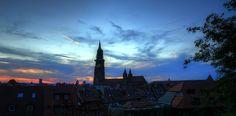 Abendhimmel über Freiburg im Breisgau