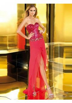 Sheath/Column Sweetheart Chiffon Red Long Prom Dresses/Evening Dress With Sequins #FC387 - See more at: http://www.victoriasdress.co.uk/prom-dresses/red-prom-dresses.html#sthash.ZghqTWca.dpuf