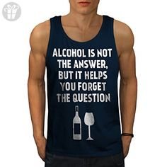 Alcohol Question Funny Drink problem Men S Tank Top | Wellcoda - Funny shirts (*Amazon Partner-Link)