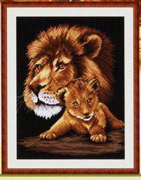 lion cross stich