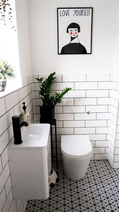 Monochrome Family Bathroom Renovation Home Renovation Project 6 , Small Downstairs Toilet, Small Toilet Room, Downstairs Bathroom, Bathroom Showers, Master Bathroom, Bathroom Design Small, Bathroom Interior Design, Small Toilet Design, Bathroom Designs