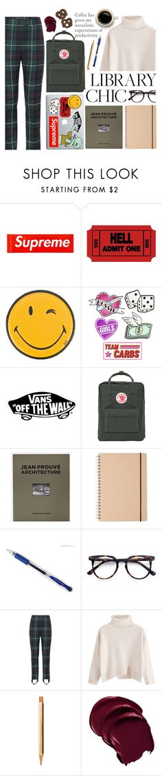 """""""Ambition"""" by auntieblazer on Polyvore featuring Anya Hindmarch, Vans, Fjällräven, Distributed Art Publishers, Muji, Uni-ball, Ace, Burberry and ystudio"""