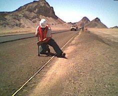 Fotos de los trabajos en la carretera Mexicali-San Felipe en Baja California México